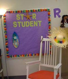 Clutter-Free Classroom: Beach / Ocean Themed Classroom, love the star student! 3rd Grade Classroom, Classroom Design, Kindergarten Classroom, School Classroom, Classroom Themes, Future Classroom, Classroom Organization, Classroom Management, Ocean Themed Classroom