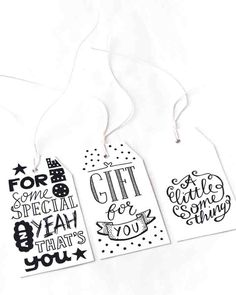 Gifttags, labels: Handwritten by Paperfuel, het PapierAtelier @ ShowUP. Seen on HappyMakersBlog.com. Photo: BloomInspiration