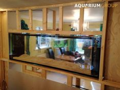 Through Wall Fish Tank installation for Northamptonshire client featuring custom built timber frame stud wall partition to house Aquarium & filtration. Aquarium Stand, Aquarium Mural, Home Aquarium, Aquarium Design, Aquarium Ideas, Saltwater Fish Tanks, Saltwater Aquarium, Aquarium Fish Tank, Freshwater Aquarium