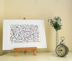 Curly Lines 5 - Original Abstract Ink Painting - NOT A PRINT