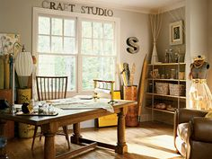 junkgarden: Inspiration: Craft Room/Art Studio