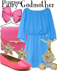 Disney Bound: Fairy Godmother from Disney's Cinderella Fairy Godmother Costume, Cinderella Fairy Godmother, Cinderella Costume, Cinderella Disney, Disney Inspired Fashion, Disney Fashion, Women's Fashion, Disney Dress Up, Disney Clothes