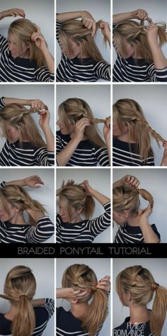 How to... do an easy braided ponytail.