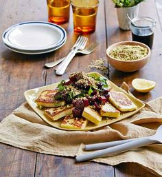 Haloumi with dukkah and beetroot salad from google.com