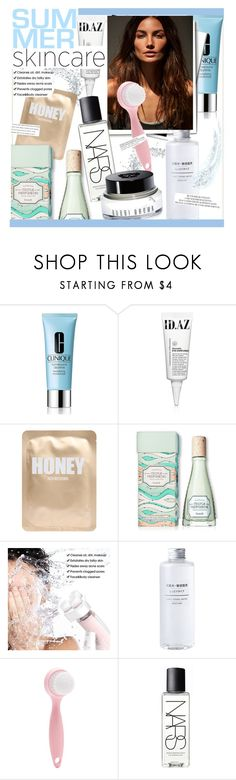 """Hello, Flawless: Skincare"" by kusja ❤ liked on Polyvore featuring beauty, Clinique, Lapcos, Benefit, Forever 21, NARS Cosmetics, Bobbi Brown Cosmetics, Summer, Beauty and skincare"