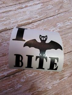 Bat Vinyl Decal  Bat Decal  Halloween Decal  by DixieKRoseBoutique
