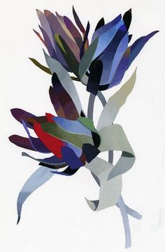 "illustration for ""Flower designer"" by Hiroyuki Izutsu, via Behance Art And Illustration, Floral Illustrations, Botanical Illustration, Motif Floral, Arte Floral, Arte Pop, Abstract Watercolor, Botanical Art, Art Techniques"