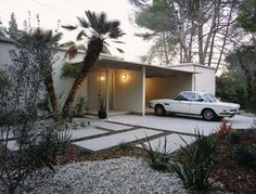 Read what it means to renovate a MCM house from architect and acclaimed book author Cory Buckner. Mid Century Landscaping, Modern Landscaping, Landscaping Ideas, Mcm House, Tiny House, Modern Exterior, Exterior Design, Mid Century Exterior, Mid Century House