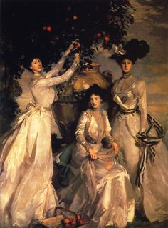 John Songer Sargent - The Acheson Sisters, circa 1902. American Gilded Age portrait painter and watercolorist: John Singer Sargent, (1856-1925).
