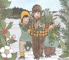 Vintage Prints made digital by Art And Illustration, Vintage Illustrations, Christmas Art, Vintage Christmas, Nostalgic Art, Retro Images, Gif Animé, Vintage Children's Books, Vintage Prints