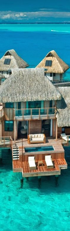 Hilton Bora Bora Nui Resort and Spa. Re-pin if you like. Via Inweddingdress.com #honeymoon #destination