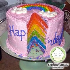 Rainbow inside the cake!