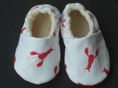 Lobster Baby Shoes Baby Slippers Booties Gender by LilSweetiePies, $16.00
