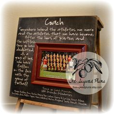 Custom Coach Picture Frame Gift, Sisters, Sports, Dance Team, Gymnastics, Team Coach, Cheer-leading, End of Season Thank you Gift 16x16