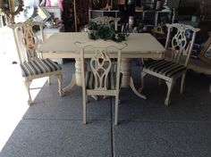 https://www.facebook.com/groups/148871301967379/  Gilbert Boutique By Shelly  By Shelly Nemeth Annie Sloan Paint Furniture make over! Table Set