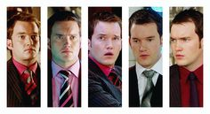 "The shirt-tie combos of Ianto Jones. ""Red is my colour."""
