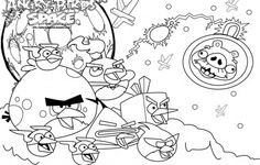 Colorear Angry Birds Coloring Page