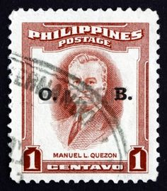 Philippines Stamp 1953 - Presidents of the Philippines Manuel L Quezon 2nd Pres of the Philippines