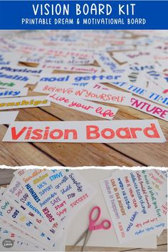 This Vision Board kit includes printable cutouts for you to create your own Vision Board, Dream Board or Goals Board. Get started with a set of titles, categories, inspirational words and affirmations to manifest your dreams and desires, serve as a source of inspiration and motivation, and to use the law of attraction to attain your goals. Includes over 600 words and 130 inspirational sayings to print and create your Vision Board. Available at the Chasing Limes Shop on Etsy. Vision Board Template, Motivational Affirmations, Goal Board, Meaningful Conversations, Thanksgiving Gifts, Choose Joy, Limes, Writing Skills, Chakras
