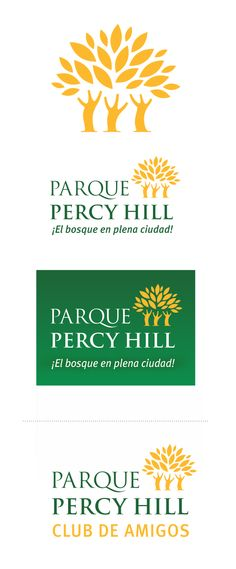 LOGO Parque Percy Hill Park - botanical garden logo. Design: Cecilia Estrella