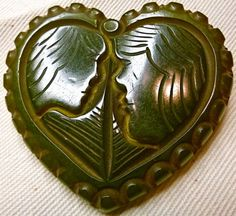 lovers heart button