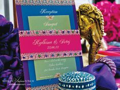 Bejeweled Invitation Collection- as seen in 2013/14 Kismet Wedding & Fashion Magazine