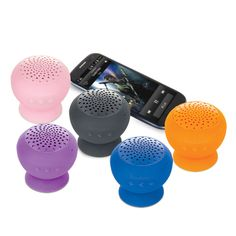Stream music and take calls from the wireless speaker that sticks to anything!