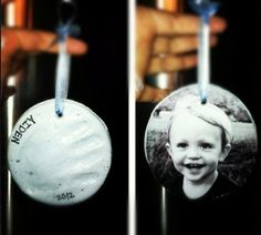 Hand Print/Portrait Ornaments - Mother's Day Craft