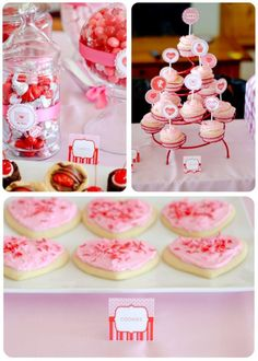 Thanks to @Anders Ruff Custom Designs for this blog post:    Valentines Day parties for kids are my favorite.   Holly, of Paisley Petal Events, planned this kid's Valentine's Day party last year  I just adore the cake, decorations, beautiful desserts and of course the printables! (Our I Heart Valentine's Day collection).   Holly displays wonderful treats and also shares fun ideas for a kiddie Valentine's Day party….