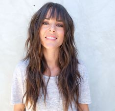 60 Lovely Long Shag Haircuts for Effortless Stylish Looks Long Messy Shag Haircut With Bangs Long Shag Hairstyles, Long Shag Haircut, Hairstyles Haircuts, Pretty Hairstyles, Messy Haircut, Hairdos, U Haircut, Full Fringe Hairstyles, Modern Shag Haircut