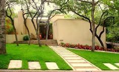 Modern Walkway Front Yard Landscaping