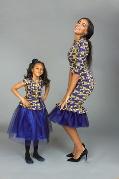 Choose from the best and beautiful matching African ankara styles for mother and daughter. These ankara styles are meant for stunning mother and daughter African Dresses For Women, African Print Dresses, African Fashion Dresses, African Attire, African Wear, African Women, African Prints, Ghanaian Fashion, Nigerian Fashion