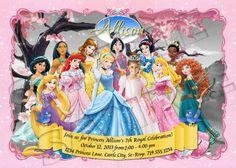 DIY Disney Princess Invitation  Disney Princess by therandompanda, $18.00