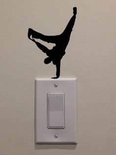 Hip Hop Dancer One Hand Cartwheel On Light by DecalPhanatics, $2.99