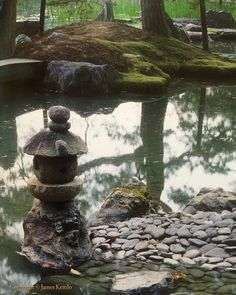 "A stone lantern, one of many in the serene huge pond and gardens of the Katsura Rikyū (桂離宮) the Imperial Villa in Kyōto. Built in 1620 it was expanded over the next twenty years to become one of the most popular gardens, and a Buddhist priest who visited Katsura Rikyū in 1624 wrote that it had the ""finest view in all Japan."" It is one of Japan's most important cultural treasures. #桂離宮 #日本 #京都 #japan #pond #lantern #garden #kyōto #katsurarikyu"