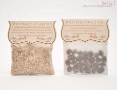 Bettys Crafts: Rentier-Kacke und Rentier-Futter