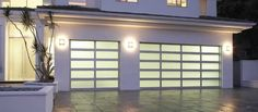 Mini Pergolas And Glass Garage Door For The Home