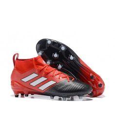 Adidas ACE 17.1 FG Tacchetti Per Terreni DuriUomo Scarpe Da Calcio Rosso Nero  Bianco cb768077e72