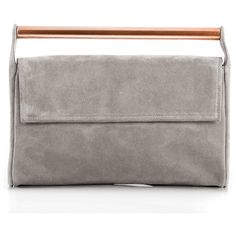 MERAKI Ataraxia Grey Clutch (2.397.890 IDR) ❤ liked on Polyvore featuring bags, handbags, clutches, grey purse, grey clutches, leather handbags, meraki and leather purses