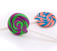 1 ONE Lollipop eraser - fun shape - cute school supplies- made in your choice of colors by amberhlynn on Etsy https://www.etsy.com/listing/104769726/1-one-lollipop-eraser-fun-shape-cute
