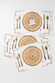 Bark Paper Placemats - Anthropologie.com