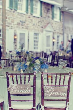 How cute are these handmade chair signs?!
