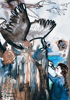 agata kowalska illustration Moose Art, Illustration Art, Painting, Animals, Animales, Animaux, Painting Art, Paintings, Animal