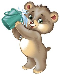 Funny Animal Photos, Cute Animal Pictures, Bear Cartoon, Cute Cartoon, Urso Bear, Bear Images, Shrink Art, Kids Canvas, Image Digital