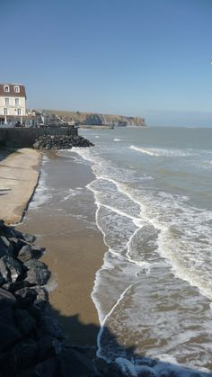 favorite little towns on the D-Day beaches is Arromanches les Bains. Normandy Beach, D Day Normandy, France Map, Tours France, France Travel, French River Cruises, Places To Travel, Places To See, Omaha Beach