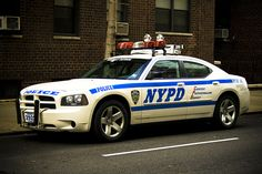 NYPD Dodge Charger Pursuit police vehicle: on We Heart It Us Police Car, Police Truck, New York Police, Police Officer, Dodge Vehicles, Police Vehicles, Sirens, Car Badges, Emergency Vehicles