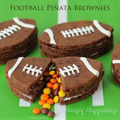 Hungry Happenings: Candy Filled Football Pinata Brownies