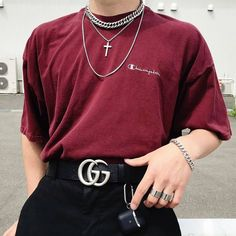 From smart sterling silver jewellery to streetwear styles our global experience places designb at the pinnacle of men's jewellery. Fashion Mode, Aesthetic Fashion, Aesthetic Clothes, Retro Fashion, Korean Fashion, Mens Grunge Fashion, Aesthetic Boy, Boy Fashion, Mens Fashion