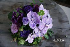 紫を基調に涼しげアレンジメント