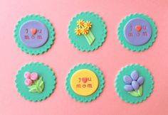 12 For Mom Fondant Cupcake Toppers